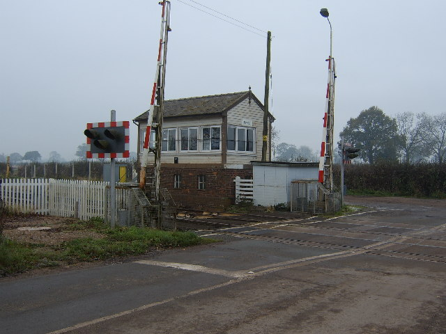 Prees Signal Box and Railway Crossing