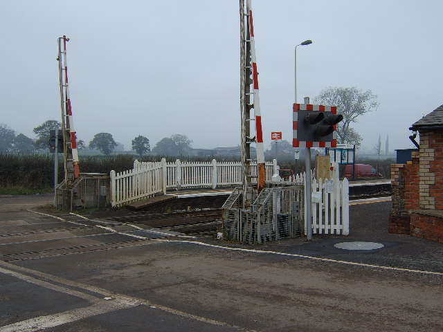 Prees Station and Railway Crossing