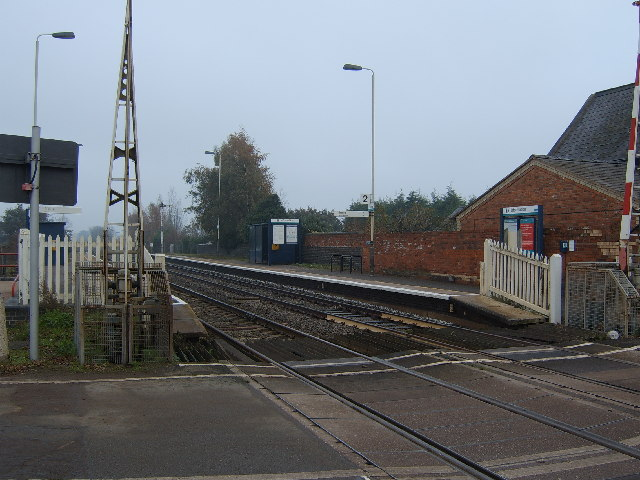 The Southbound Platform at Prees Station