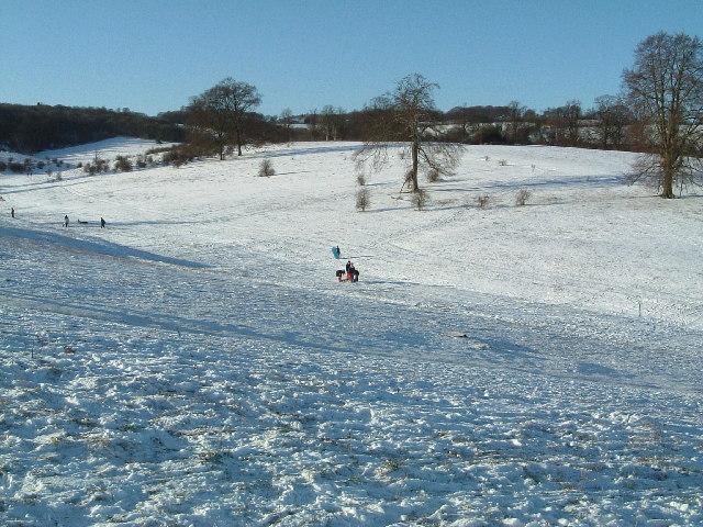 Tring Park under snow