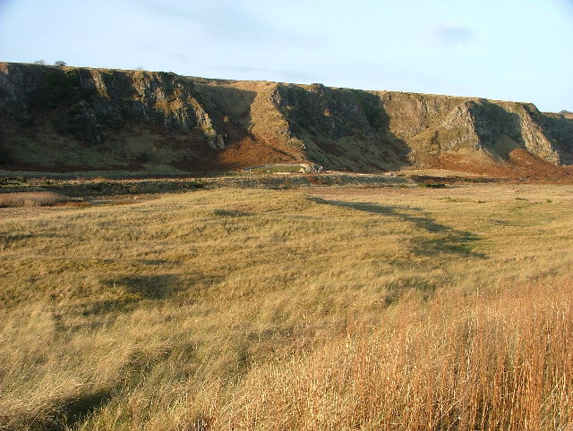 The old course of the River North Esk at St Cyrus.