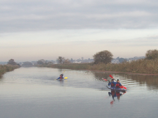 Sea kayaks on the Exeter Canal