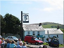 SS4291 : The Kings Head, Llangennith by John Thorn