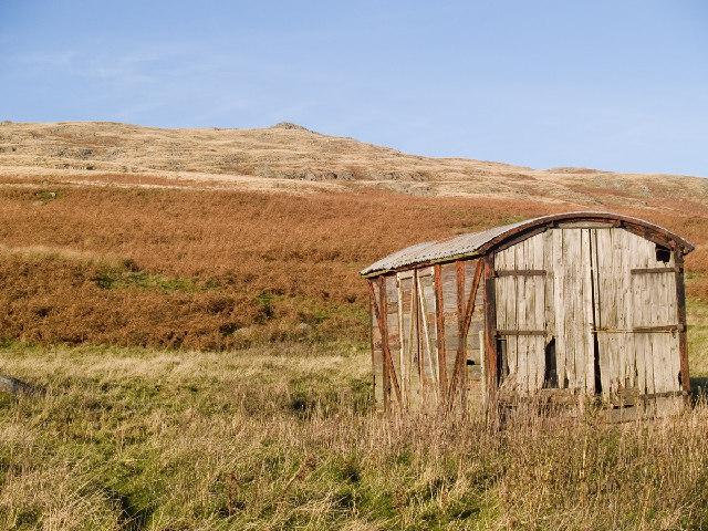 Railway Carriage at foot of Dunmoor Hill