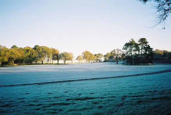 Frosty farmland, Crazies Hill