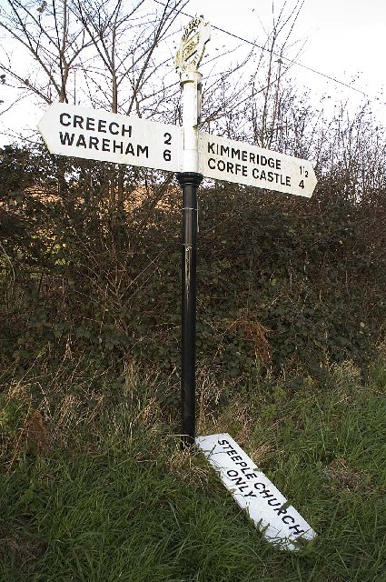 Road Sign at Steeple, Dorset