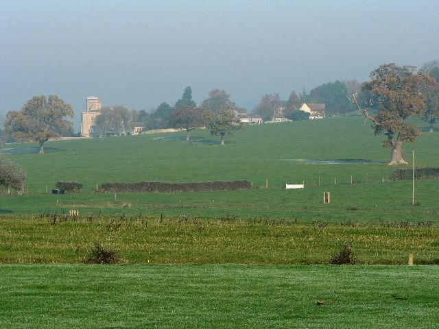 Looking across Kelston Park Estate to the West from the House