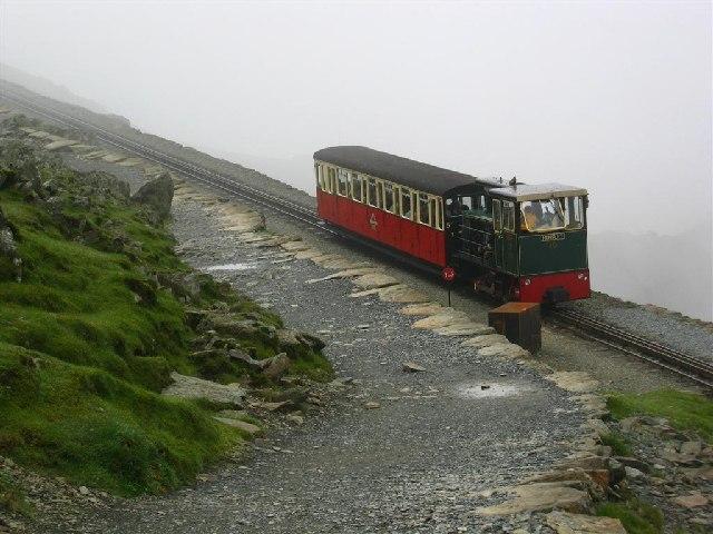 Snowdon Railway by the Track to Crib y Ddysgl