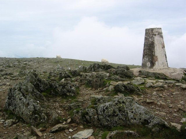 Crib y Ddysgl Trig Point, 3,493 feet (1,065m)