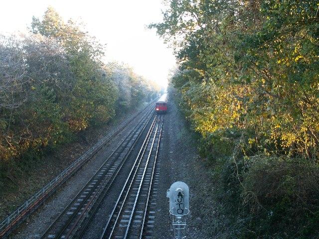 Underground train overground by Croxley