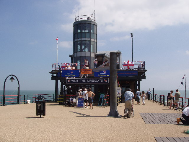 Lifeboat Station at the end of Southend Pier