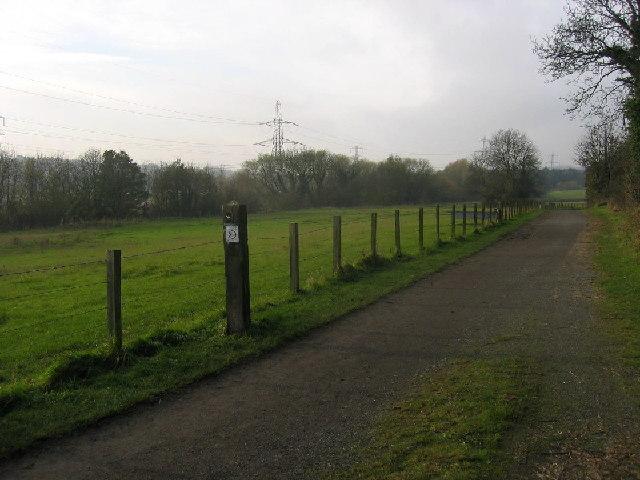 Footpath next to Reigh Burn, Throckley