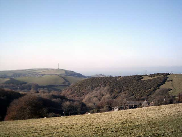 View towards Lee Down from Oakridge Farm