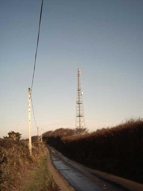 TV Mast near Ettiford Farm