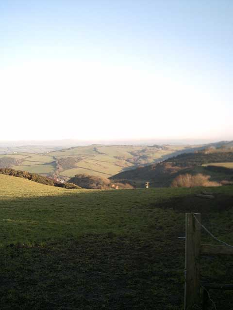 View of Sterridge Valley from Oxenpark Lane