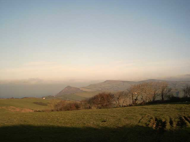 View of Exmoor from Slew