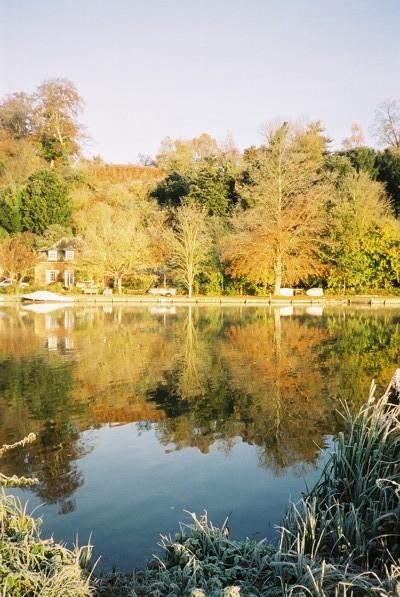 River Thames - autumn colours reflected
