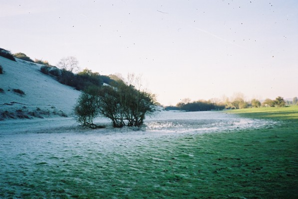 Frozen pond, Cock Marsh