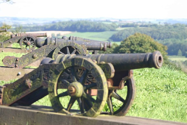 Cannons at the high point of Castle Hill Gardens