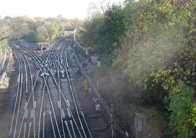 Rayners Lane underground railway junction