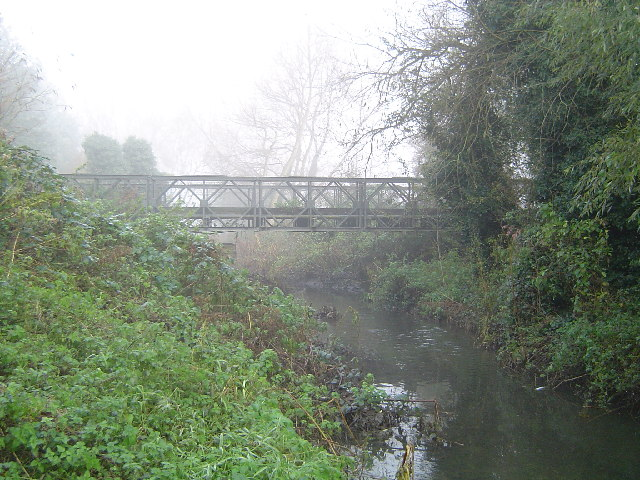 Cheshunt: Bailey Bridge over the Small River Lee