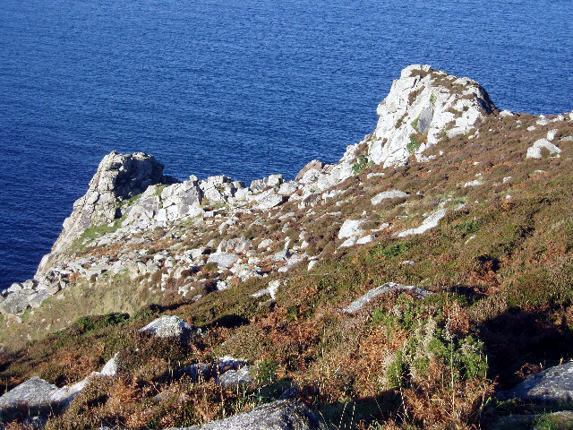 Crags on the north-east side of Haldrine Cove, Bosigran