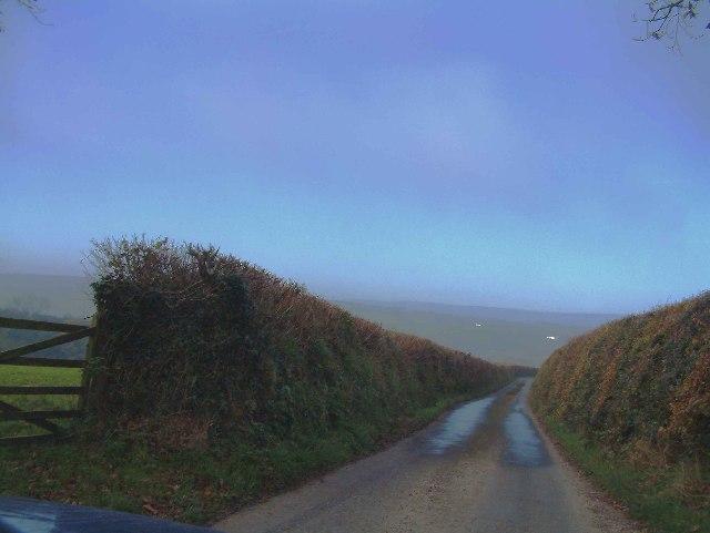 Hill north of Rose Ash - looking North towards Exmoor