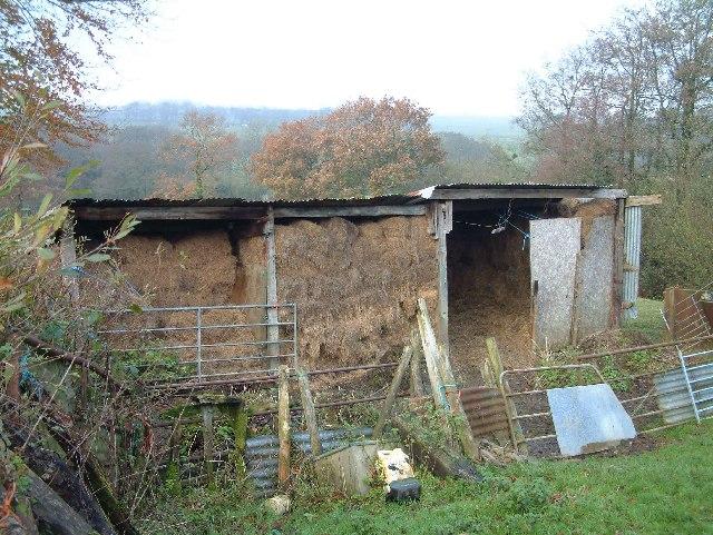 Hay store near Nutcombe Farm