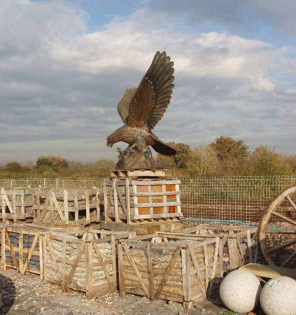 Eagle sculpture and building materials