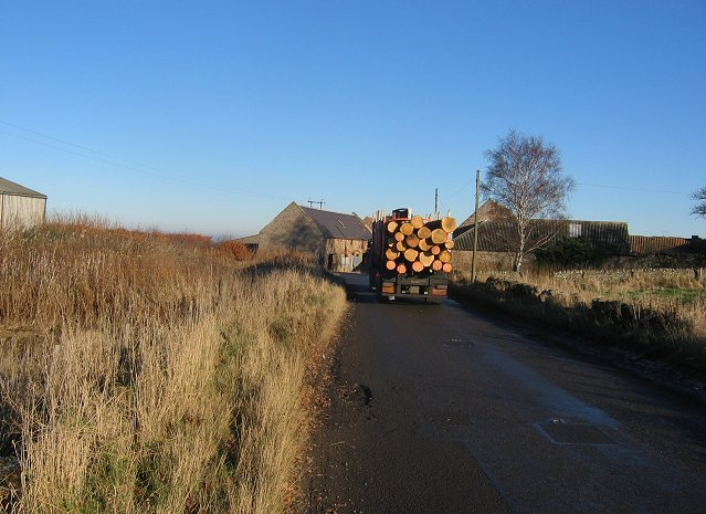 Timber lorry, Woodcote Mains.
