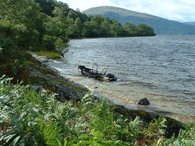 Inchlonaig Boat Wreck