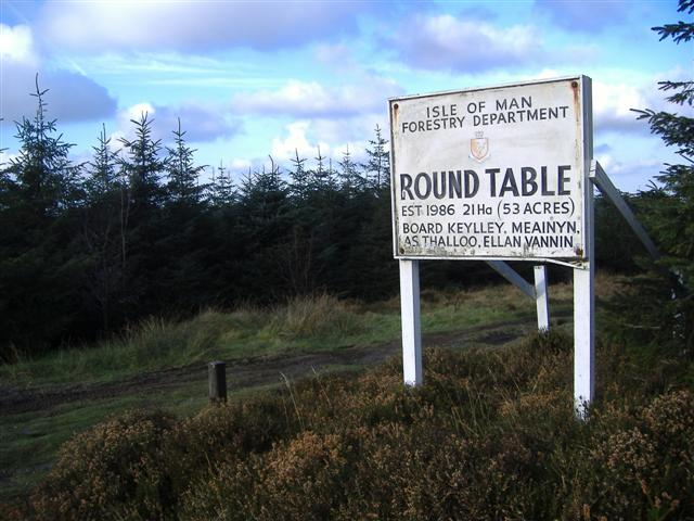 East entrance to Round Table plantation(South Barrule)