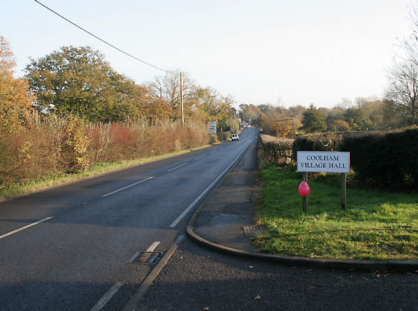 Road into Coolham, West Sussex
