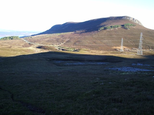 Looking at the Struie Hill from Beinn Clach an Fheadain