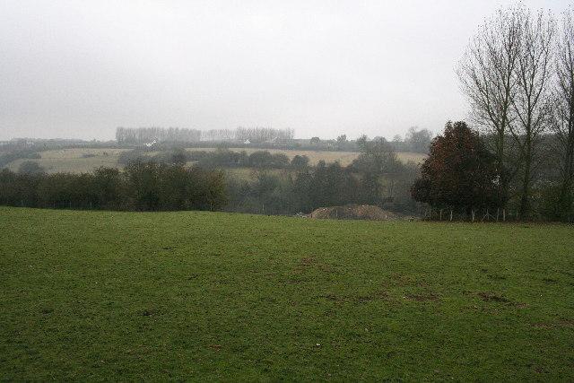 Little Abbey Gate Farm across the Loose Valley