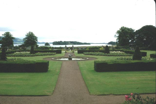 Garden of Kinross House.