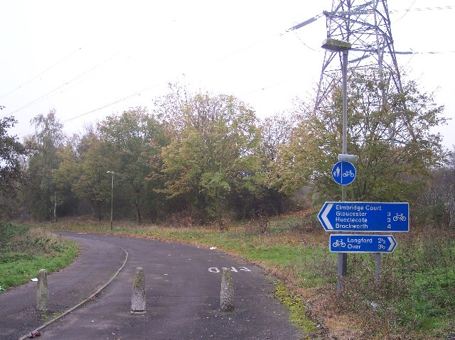 Cycleway near the Elmbridge Court Roundabout.