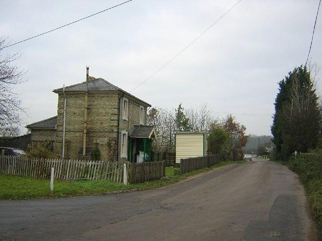 Easton Lodge halt - gate keeper's cottage.
