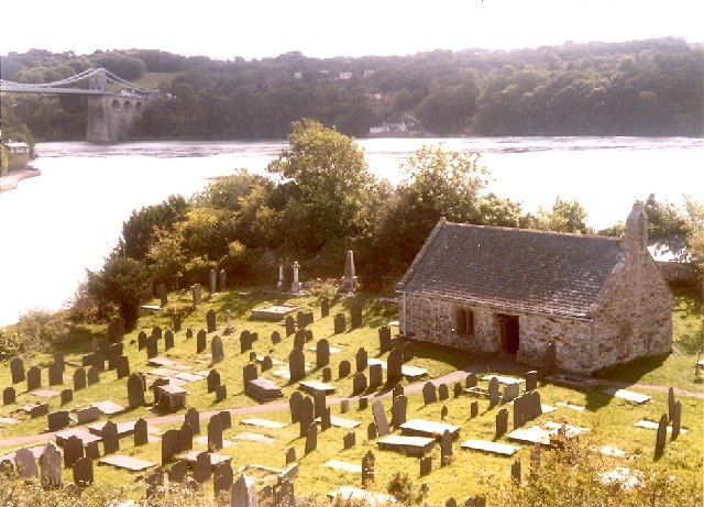 St Tysilio's Church on Church Island, Menai Bridge