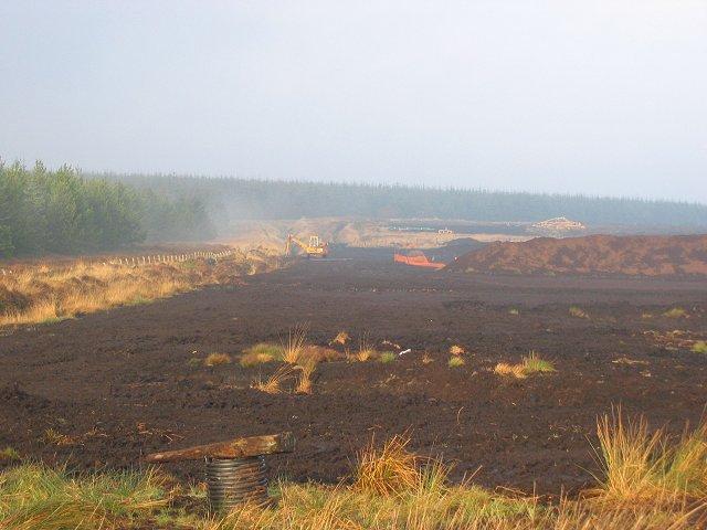Peat extraction, Auchencorth Moss.