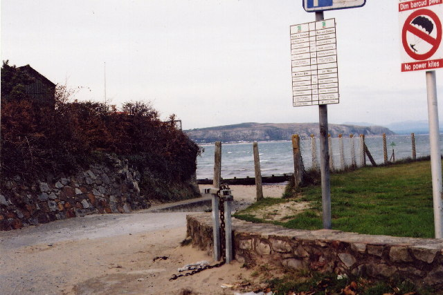 Slipway at far south end of Abersoch beach