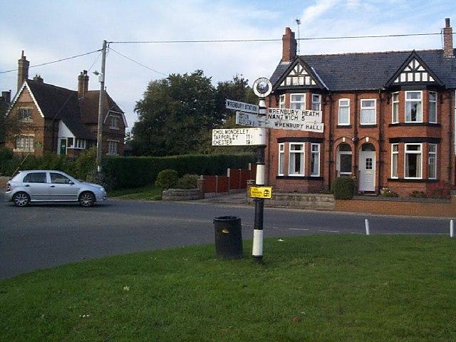 Signpost at Wrenbury