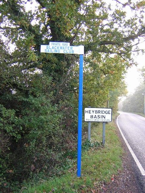 Signpost along Basin Road, Heybridge.