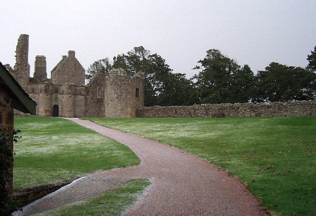 Tolquhon castle from the front yett.