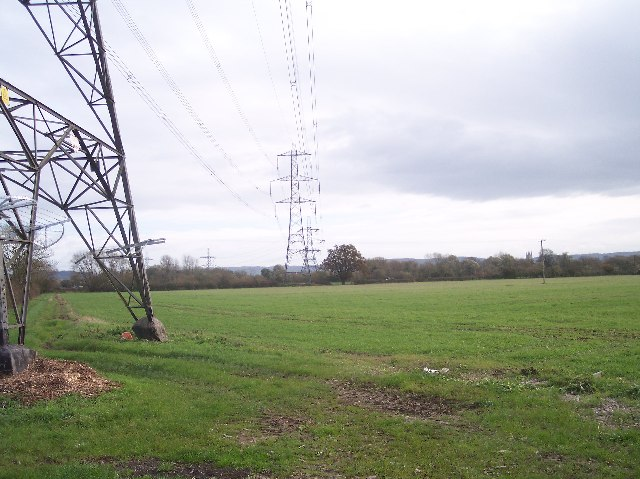 Power Lines Over Maisemore Ham
