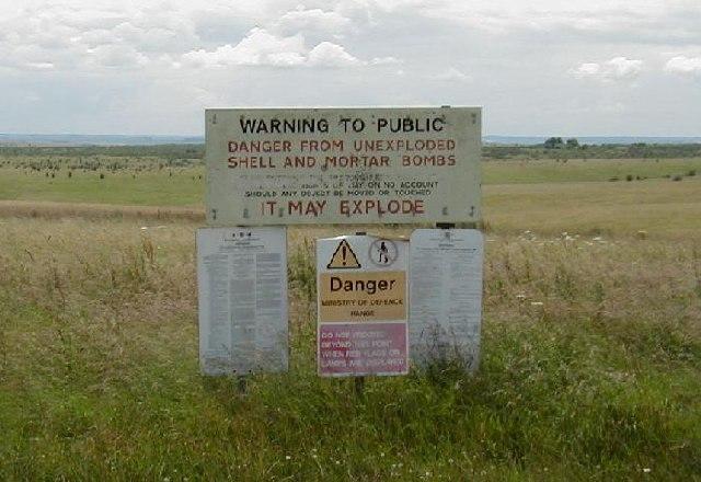 Warning Notices on Salisbury Plain