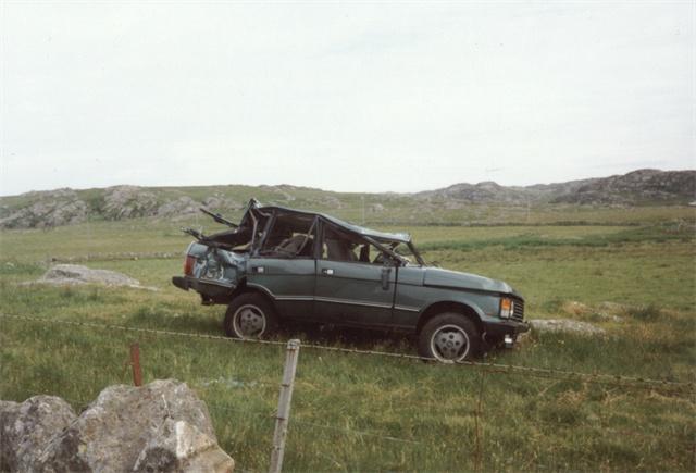 Crashed Range Rover