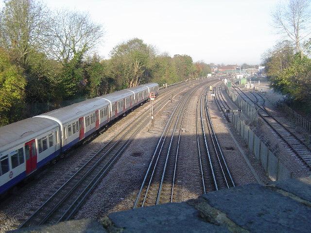 Metropolitan Line railway at Northwood