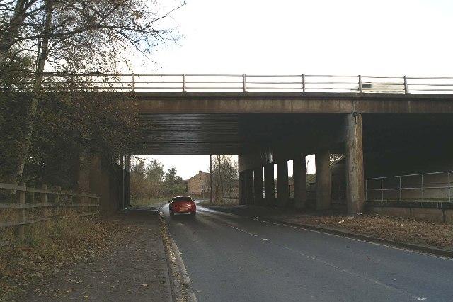 Bridge under the M62