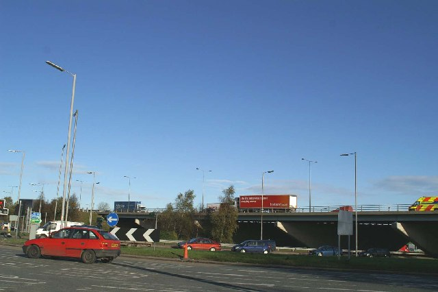 M6 and A580 (East Lancs Road) junction